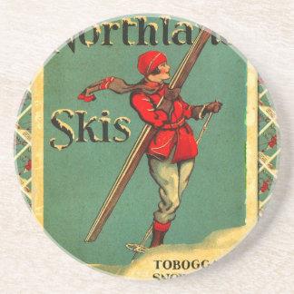 Vintage Ski Poster,  Northland Skis Coaster