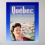 Vintage Ski poster,  Quebec, winter wonderland Poster