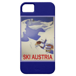 Vintage Ski Poster, Ski Austria Barely There iPhone 5 Case