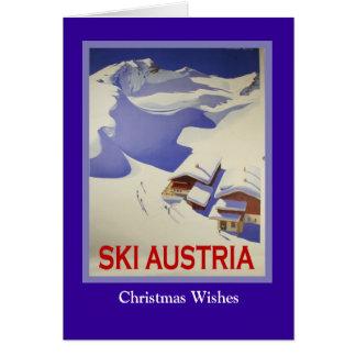 Vintage Ski Poster,  Ski Austria Card