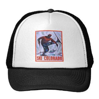 Vintage ski poster, Ski Colorado Trucker Hat