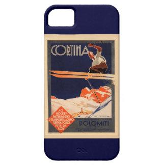 Vintage Ski Poster, Ski Cortina, Italy Case For The iPhone 5