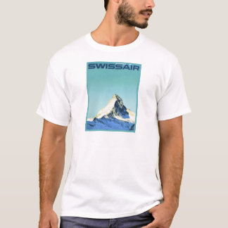 Vintage ski poster, SwissAir, Zermatt, Matterhorn T-Shirt