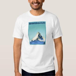Vintage ski poster, SwissAir, Zermatt, Matterhorn Tee Shirt