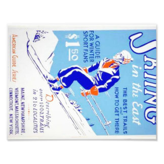 Vintage Skiing in the East WPA Poster Photograph