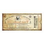 Vintage Skull and Bones Halloween Party Ticket