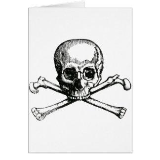 Vintage Skull and Crossbones Greeting Card