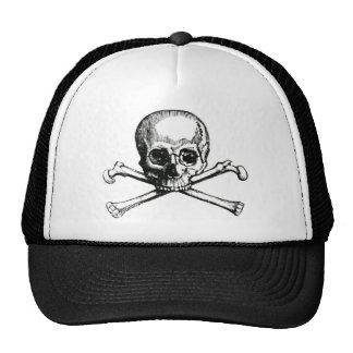 Vintage Skull and Crossbones Trucker Hat
