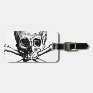 Vintage Skull and Crossbones Luggage Tag