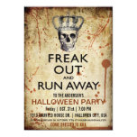 Vintage Skull and Crown Halloween Party Invitation