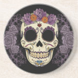 Vintage Skull and Roses Coaster