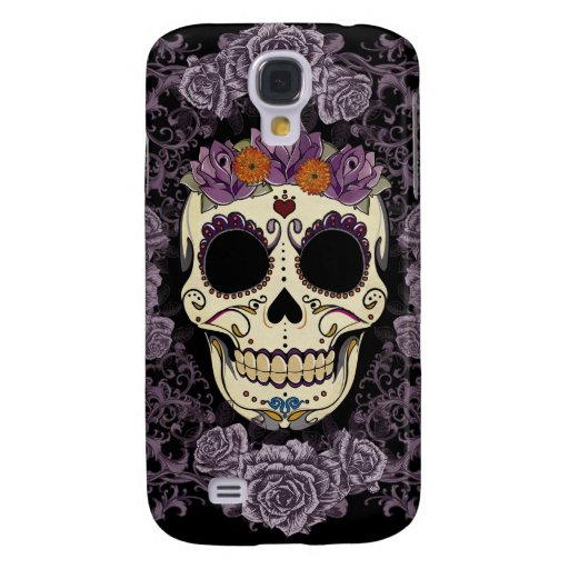 Vintage Skull and Roses Galaxy S4 Galaxy S4 Cover