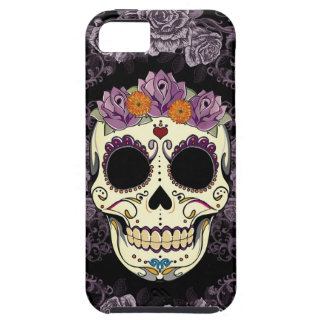 Vintage Skull and Roses iPhone 5 Case-Mate Tough iPhone 5 Case