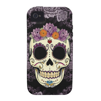 Vintage Skull and Roses iPhone Case-Mate Tough iPhone 4 Covers