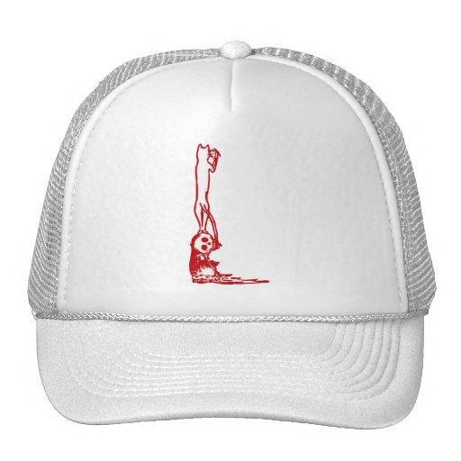 Vintage Skull Climbing in Red Trucker Hats