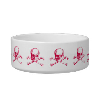 Vintage Skull & Crossbones Pet Water Bowls