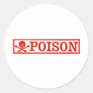 Vintage Skull & Crossbones Poison Label