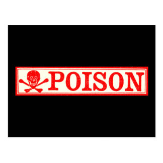 Vintage Skull & Crossbones Poison Label Postcard