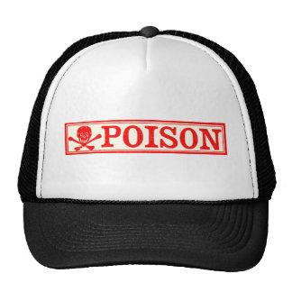 Vintage Skull Crossbones Poison Label Trucker Hats