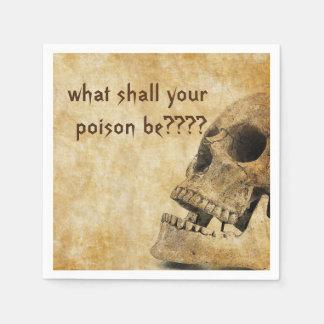 Vintage Skull Halloween Party Paper Napkins