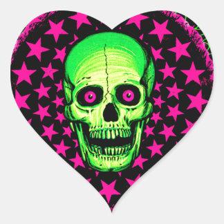 Vintage Skull Heart Sticker
