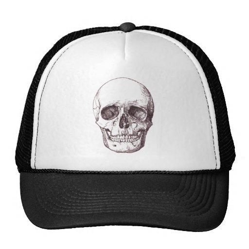 Vintage Skull Illustration Custom Background Trucker Hat