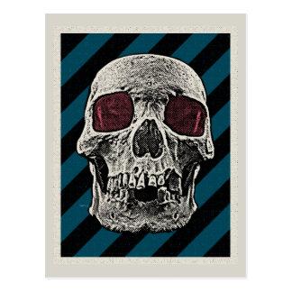 Vintage Skull Postcard