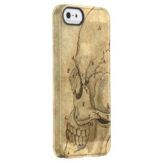 Vintage Skull Profile Engraving Lettered Permafrost® iPhone SE/5/5s Case