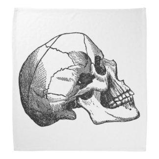 Vintage Skull Profile Illustration Bandana