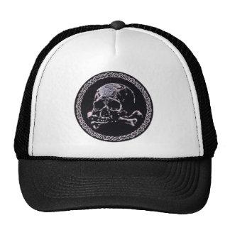 Vintage Skull round icon Hats
