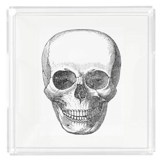 Vintage Skull Serving Tray
