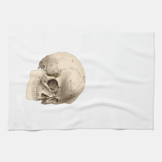 Vintage Skull Tea Towel
