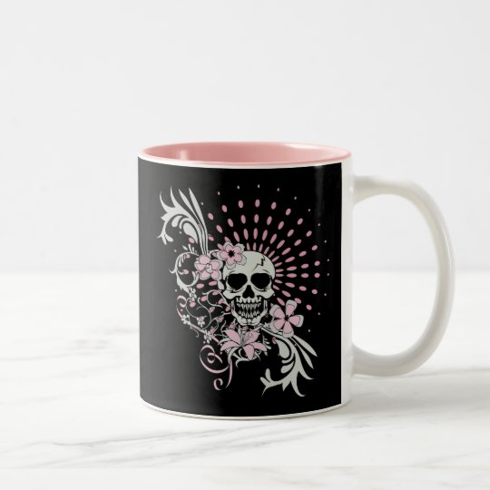 Vintage Skull Two-Tone Coffee Mug