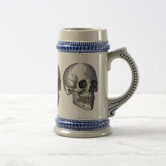 Vintage Skulls Traditional German Beer Stein Mug