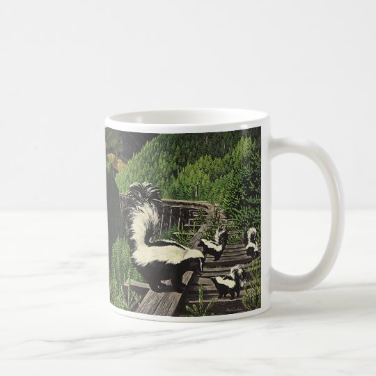 Vintage Skunks, Wild Animals and Forest Creatures Coffee Mug