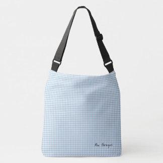 Vintage_Sky-Blue_Gingham_ Crossbody Bag