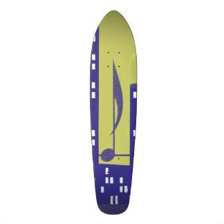 Vintage Skysraper Music Note Purple Chartruese Skate Decks