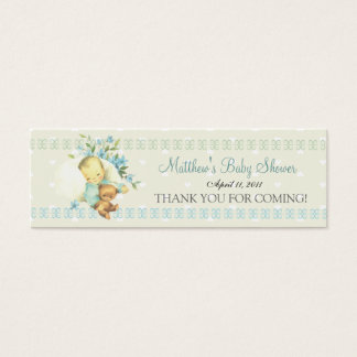 Vintage Sleeping Baby Shower Custom Favor Tag Mini Business Card