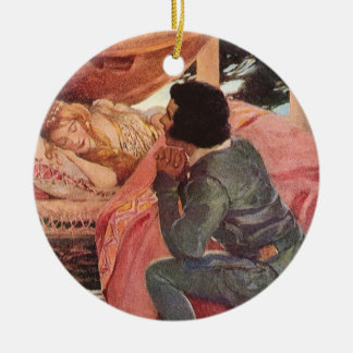 Vintage Sleeping Beauty by Jessie Willcox Smith Christmas Ornament