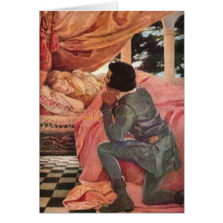 Vintage Sleeping Beauty by Jessie Willcox Smith Greeting Card