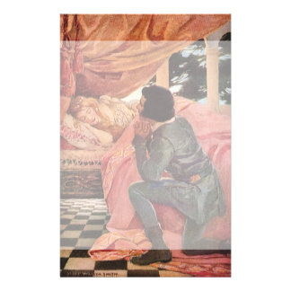 Vintage Sleeping Beauty by Jessie Willcox Smith Stationery