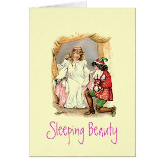 Vintage Sleeping Beauty Card
