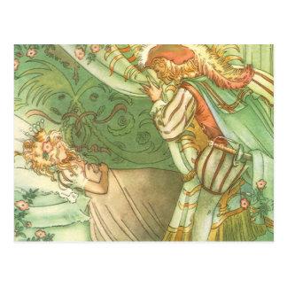 Vintage Sleeping Beauty Princess Prince Charming Post Cards