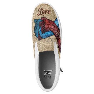 Vintage Slip On Shoes Holding Hands,Eternal Love