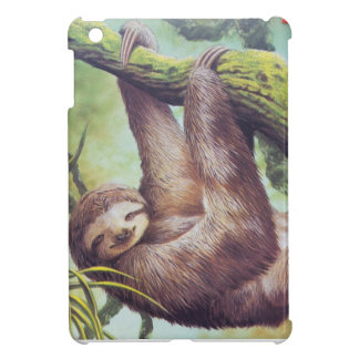 Vintage Sloth Illustration Cover For The iPad Mini