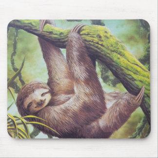 Vintage Sloth Illustration Mouse Pad