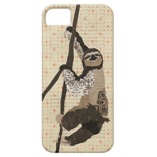 Vintage Sloth iPhone Case iPhone 5 Covers