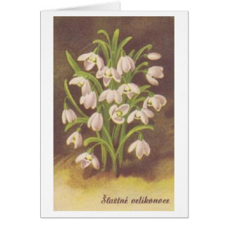 Vintage Slovak / Czech Easter Card