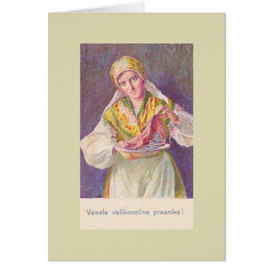 Vintage Slovenian Easter Greeting Card