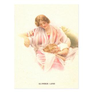 Vintage Slumber Land Postcard